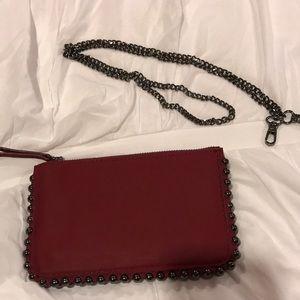 Zara mini studded wallet clutch
